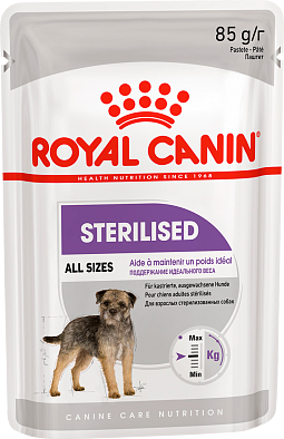 Паучи Royal Canin Sterilised Canine для стерилизованных собак, паштет